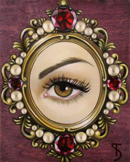 """Lover's Eye"" oil on wood, by Suzy Todd"