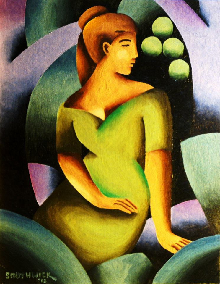 """Woman with Green Dress"" by Shawn Southwick"