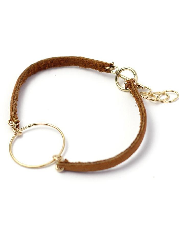Minimalist Leather Bracelet Tan