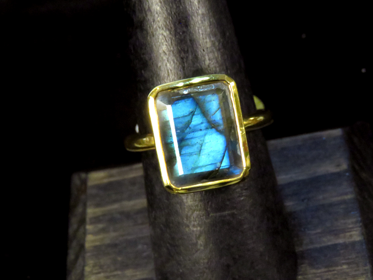 Art Deco Labradorite Ring