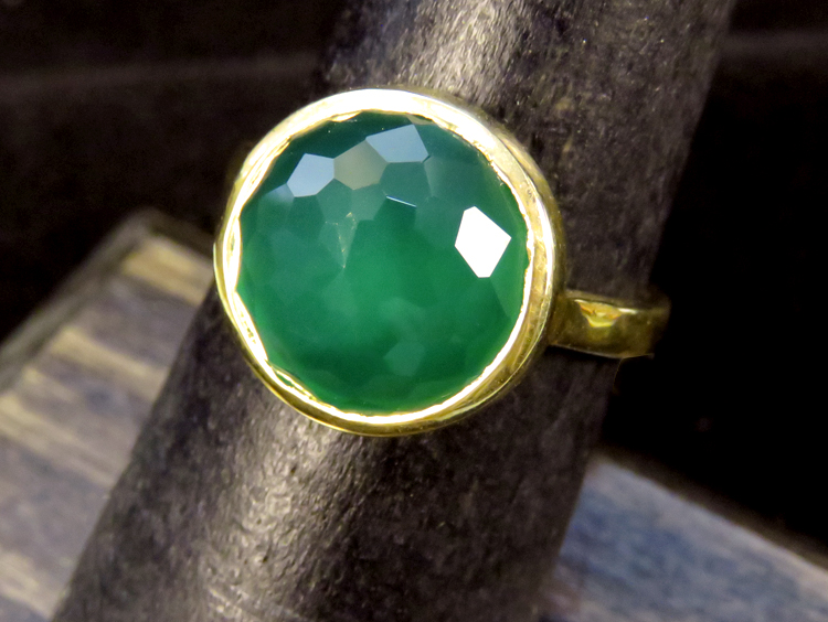 Green Onyx Dome Ring