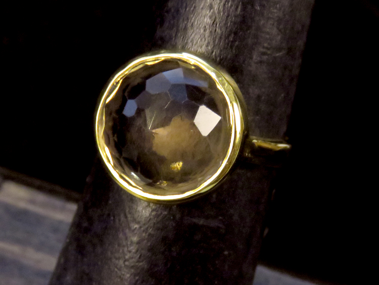 Smokey Quartz Dome Ring