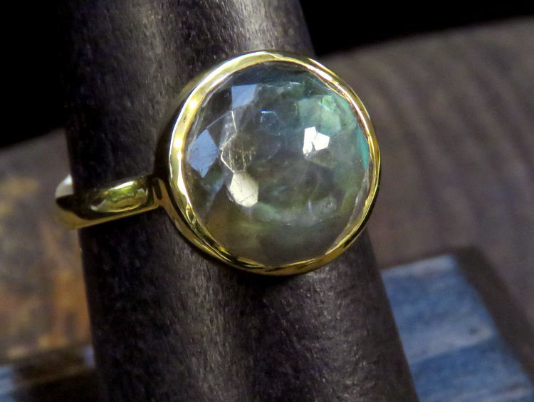 Labradorite Dome Ring