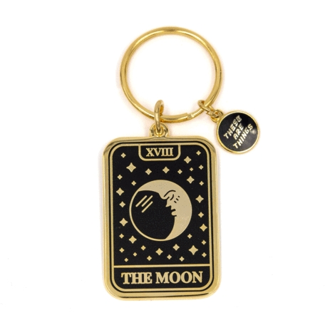 The Moon Card Keychain