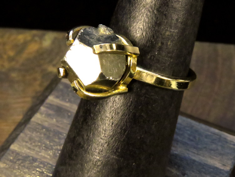 Pyrite Crystal Ring 6 1/2