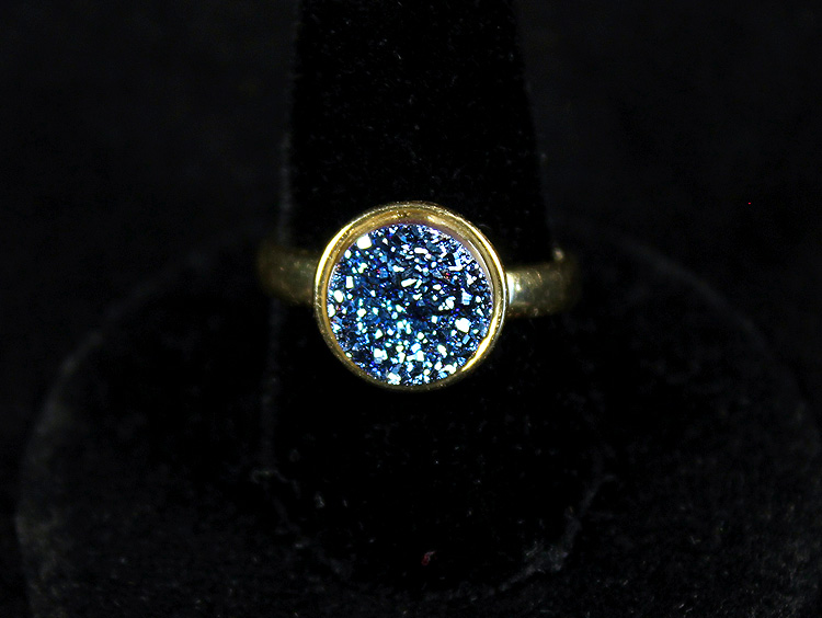 Little Blue Druzy Ring