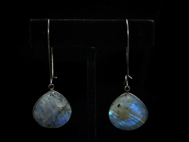 Labradorite Raindrop Earrings