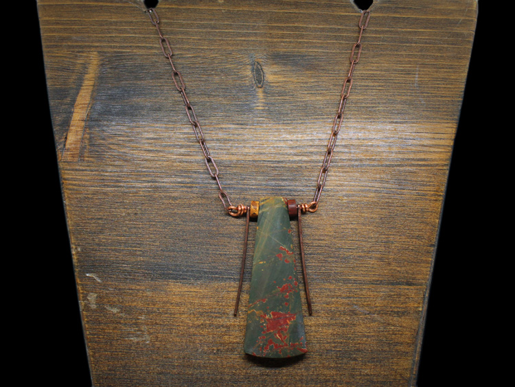 Blood Jasper Copper Necklace