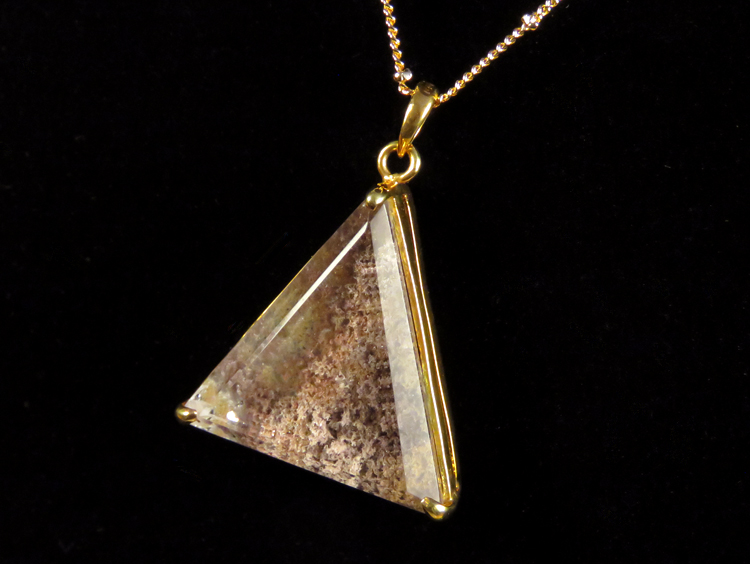 Triangle Lodolite Quartz Necklace