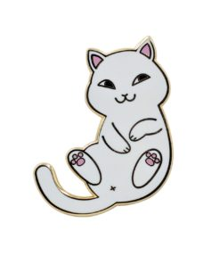White Cat Pin