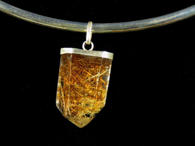 Rutile Quartz Torque Necklace