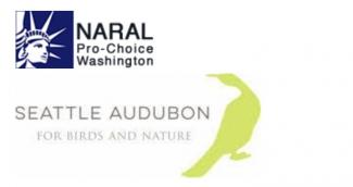 NARAL Pro-Choice Washington,  Seattle Audubon Society