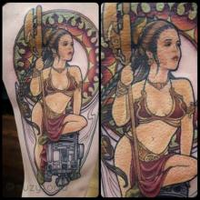Princess Leia and R2D2 in Progress by Suzy