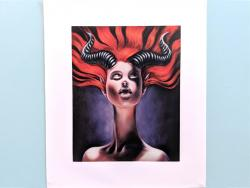 canvas art print of Horny Beast, painting by Suzy Todd