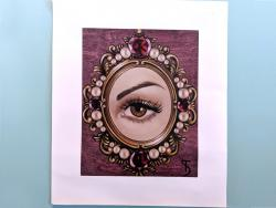 canvas art print of Lover's Eye Hazel, painting by Suzy Todd